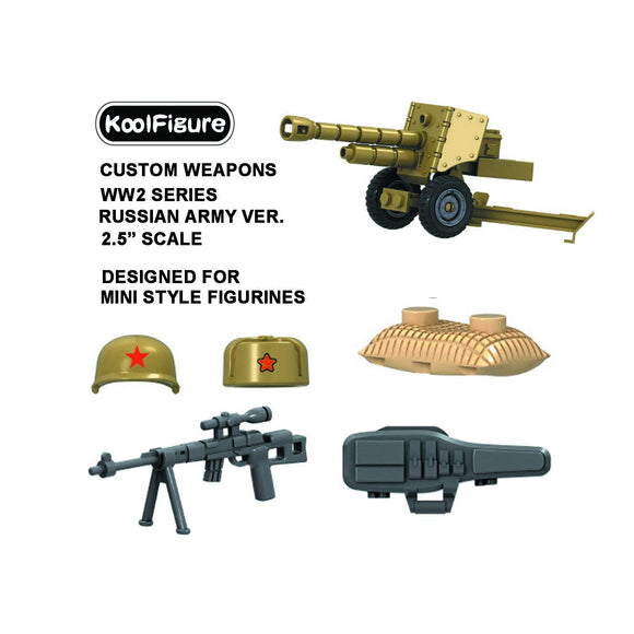 Koolfigure Russian Army Accessories Set 1 with 2 Random Figures