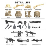 Koolfigure Camouflage Army Accessories Set 1 with 2 Random Figures