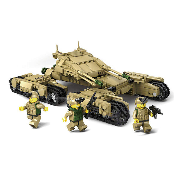Kazi 4in1 Mammoth Tank MKII Building Bricks Set