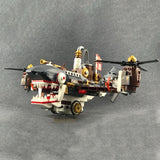 Cool Vintage Steam Era Series Shark Airplane Building Blocks Set (536PCS)