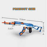 Cada Building Blocks Gun AK-47 Assault Rifle, Shoot Rubber Bands Bricks Gun Set C81001 (498PCS)
