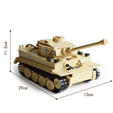 KAZI WW2 German Military Tiger Tank Building Bricks Set 995 PCS