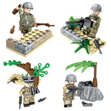 DLP Custom WW2 Military Building Blocks Figures Set German Soldiers