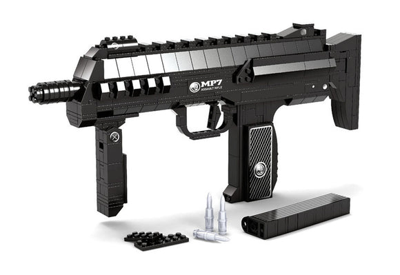 Ausini Guns Building Bricks Set, Famous Top Gun Collection The MP7 Submachine Gun 22608 (504PCS)