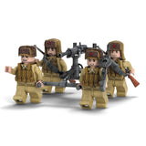 WW2 Building Blocks Figures Set US & Asian Army Building Set