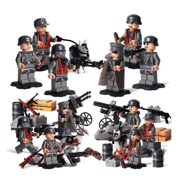 WW2 Building Blocks Figures Set German Army Building Set