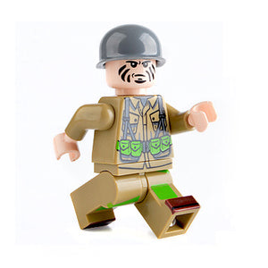 Custom Military Minifigure WW2 The US Soldier 1PCS