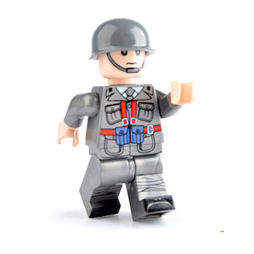 Custom Military Minifigure WW2 The Italian Soldier 1PCS