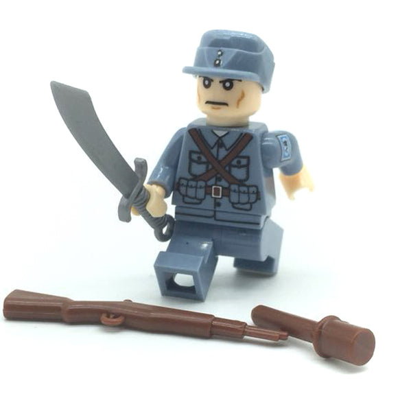 Custom Military Minifigure WW2 The Chinese 8th Route Soldier 1PCS