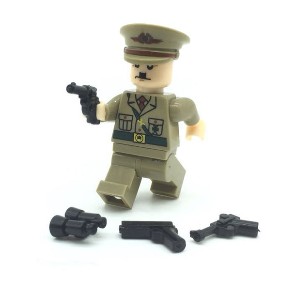 Custom Military Minifigure WW2 The German Commander 1PCS