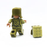 Custom WW2 Military Minifigure Chinese Red Army 1PCS