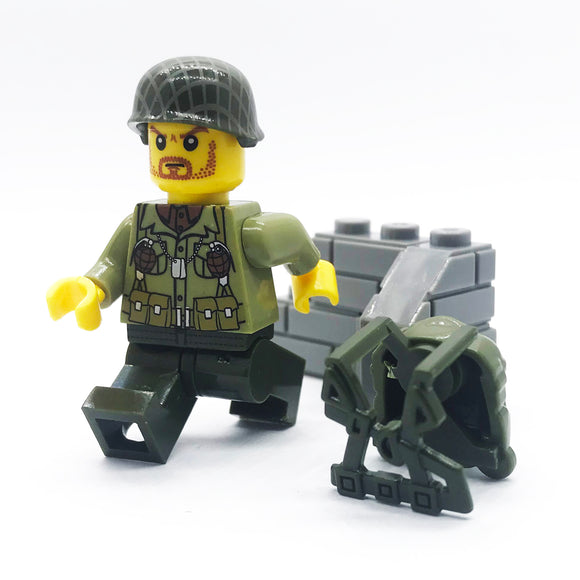 Custom WW2 Military Minifigure US Army 1PCS