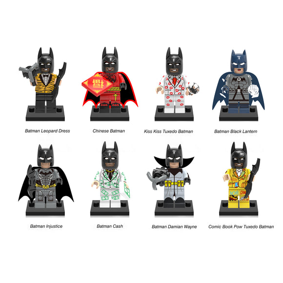 iiiax Custom Super Heroes Batman Mini Size Figurines Set 0133