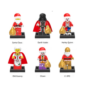 iiiax Custom Santa Claus Mini Size Figurines Set 0140