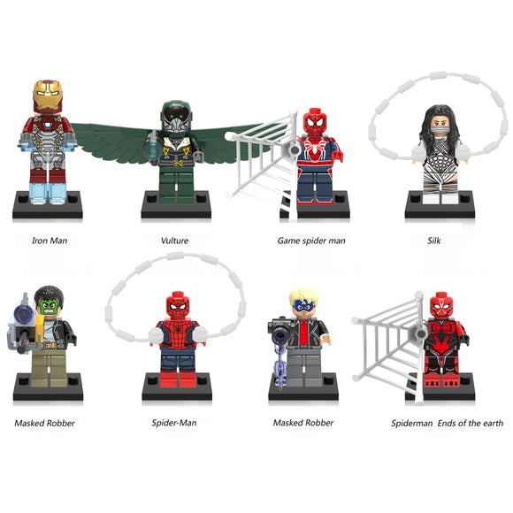 iiiax Custom Super Heroes Mini Size Figurines Set 0168