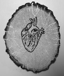 SILVER LINED HEART [reflective]