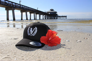 VV Embroidered Hat - Black ~ White stitching