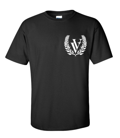 VV EMBROIDERED T-SHIRT BLACK
