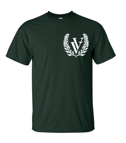 VV EMBROIDERED T-SHIRT FOREST GREEN