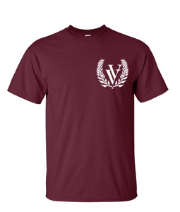 VV EMBROIDERED T-SHIRT CARDINAL