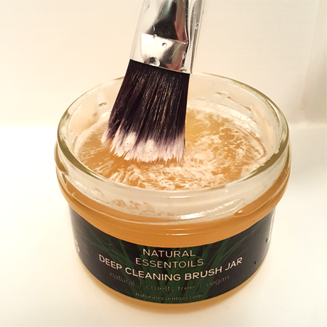 Make up brush cleaning jar