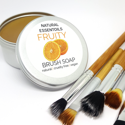 make up brush soap