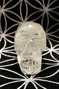 Clear Quartz Crystal Skull #61 - Ruby Dragon