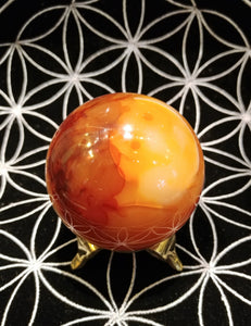 Carnelian Sphere - Ruby Dragon