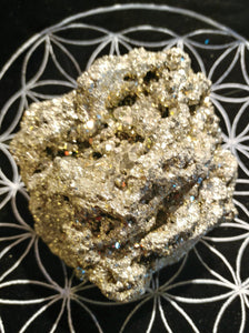 Pyrite Cluster - Ruby Dragon