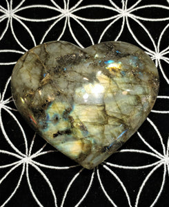 Labradorite Heart - Ruby Dragon