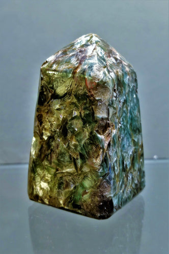 Fuchsite Kyanite Standing Point - Ruby Dragon