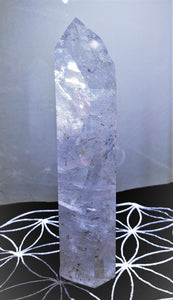 Clear Quartz Standing Point - Ruby Dragon