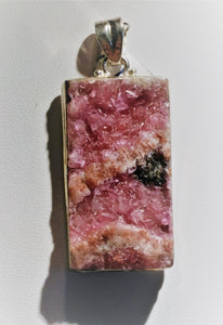 Cobaltian Calcite Sterling Silver Pendant - Ruby Dragon