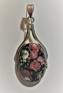 Eudialyte Sterling Silver Pendant - Ruby Dragon