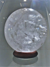 Clear Quartz Sphere - Ruby Dragon