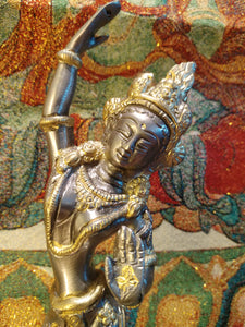Goddess Tara Brass Statue - Ruby Dragon