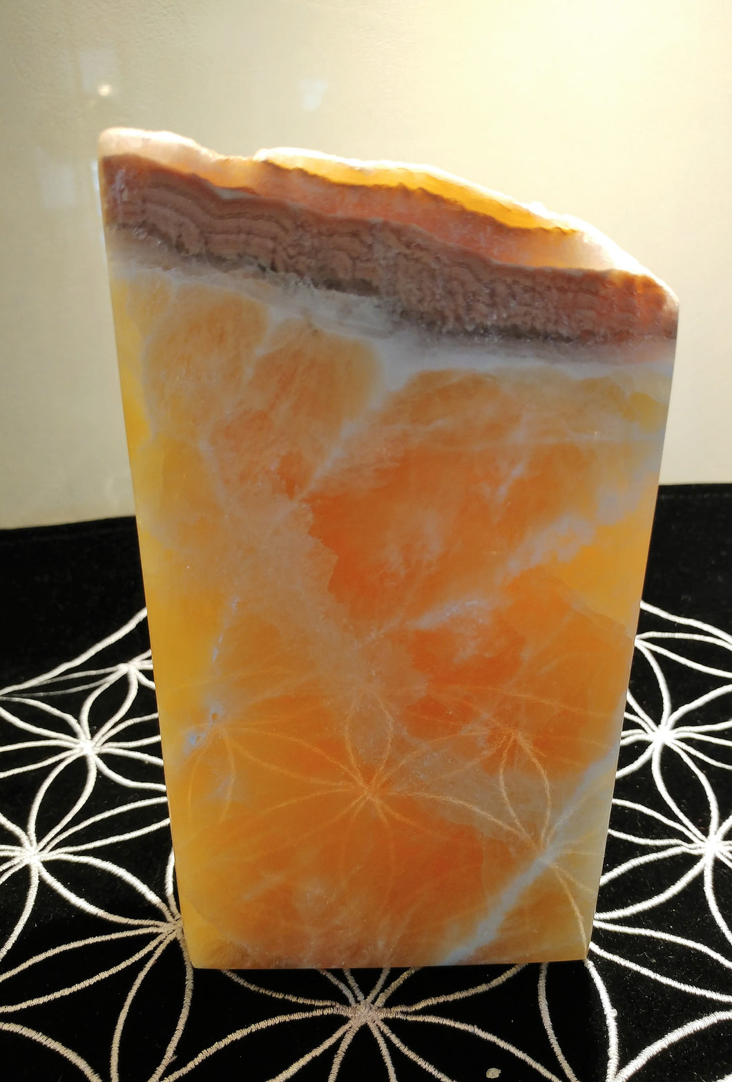 Orange Calcite Free Form - Ruby Dragon
