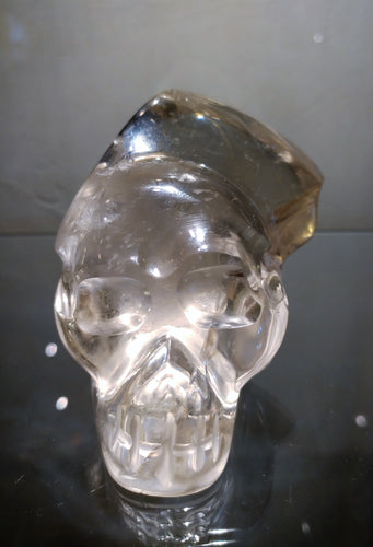 Natural Citrine Crystal Skull - Ruby Dragon