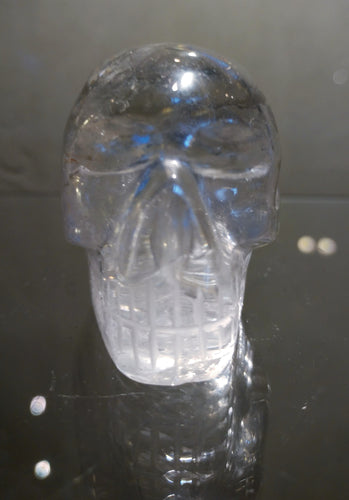 Clear Quartz Crystal Skull - Ruby Dragon