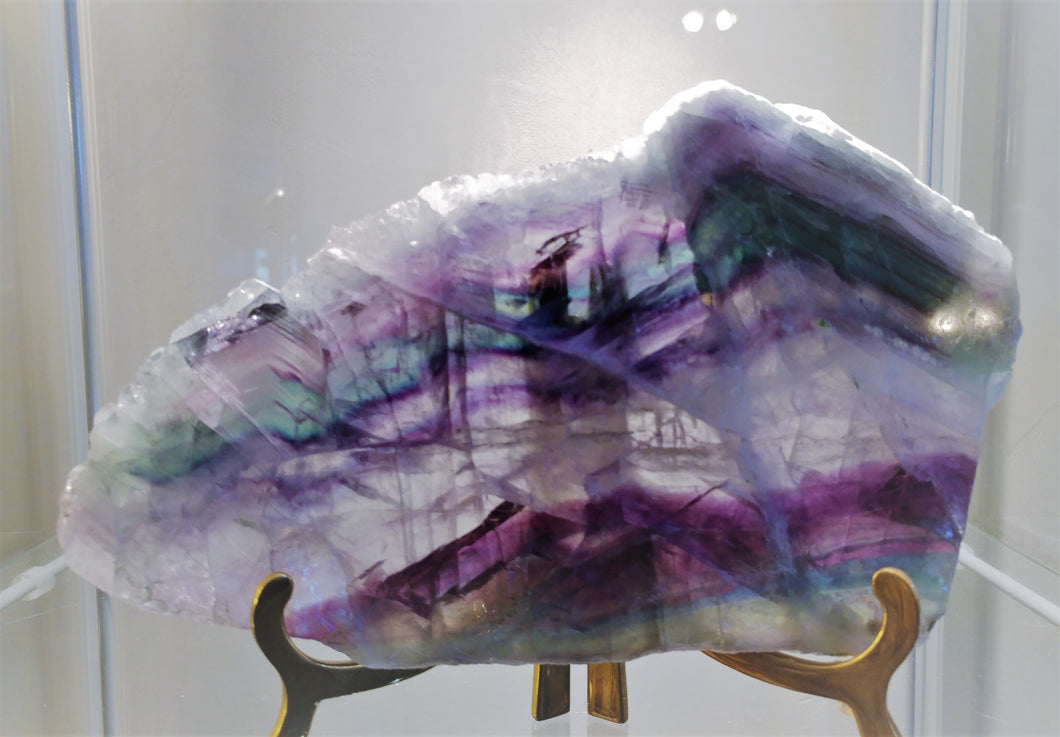 Fluorite Free Form Slab - Ruby Dragon
