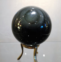 Rainbow Obsidian Sphere - Ruby Dragon