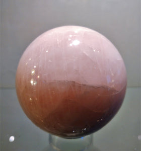 Rose Quartz Sphere - Ruby Dragon