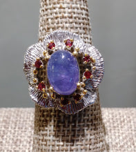 Tanzanite & Garnet Ring - Ruby Dragon