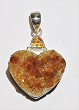 Citrine Sterling Silver Pendant - Ruby Dragon
