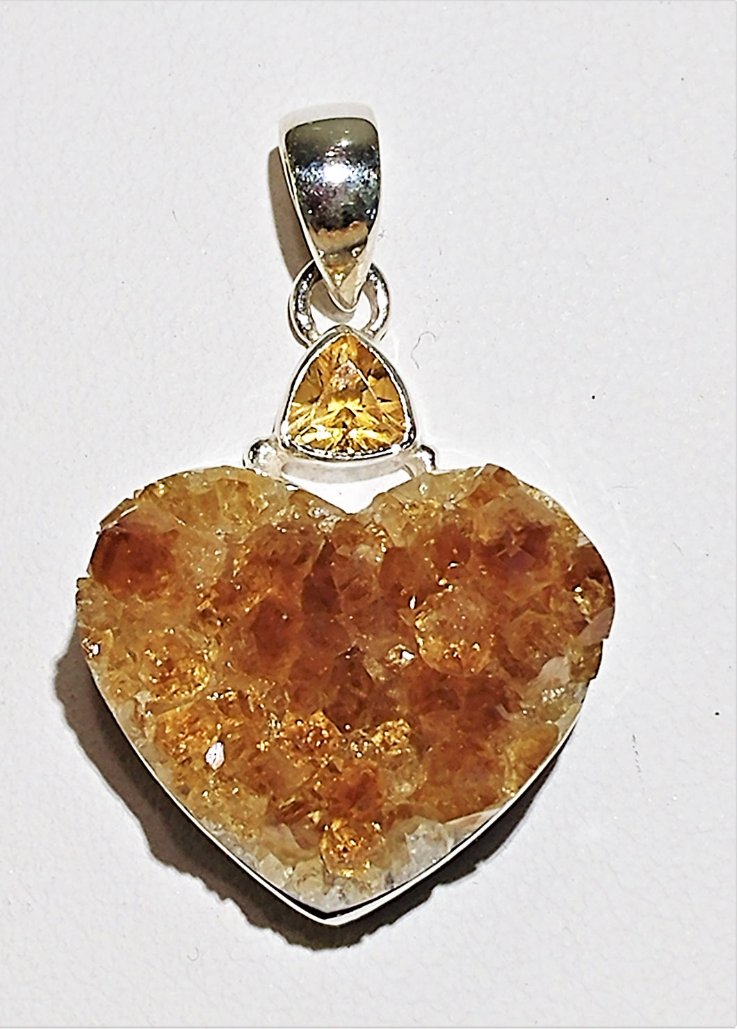 Citrine Sterling Silver Pendant