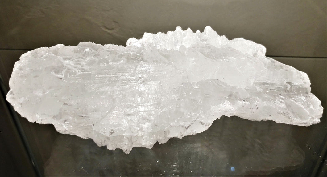 Selenite ~ Angel Wing - Ruby Dragon