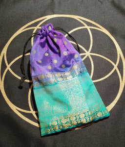 Chakra Stones & Seed of Life Mat - Ruby Dragon