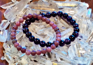 Chakra Bracelets ~ Third Eye & Crown - Ruby Dragon