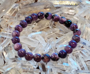 Charoite Bracelet - Ruby Dragon
