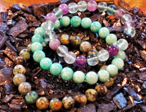 Bracelet Set ~ Calm & Collected - Ruby Dragon